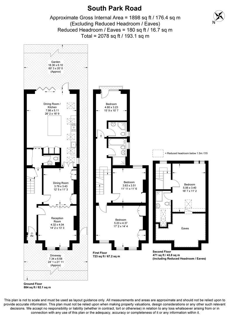 Floorplan for South Park Road, Wimbledon